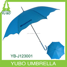 custom shape hot fashion design straight auto umbrella with polka dot