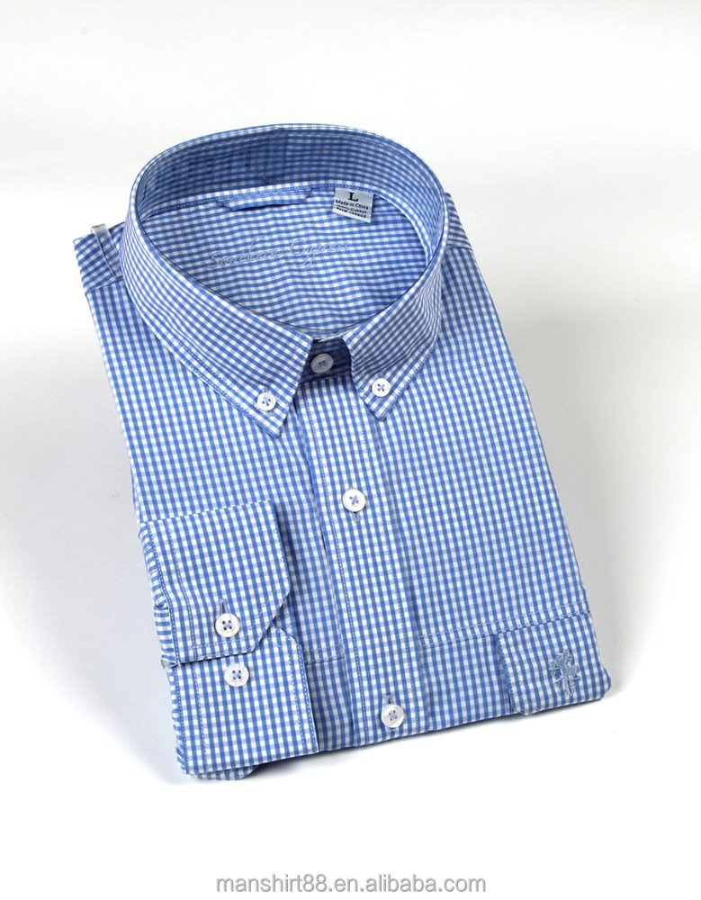 button down collar men shirt 100 cotton men dress shirt