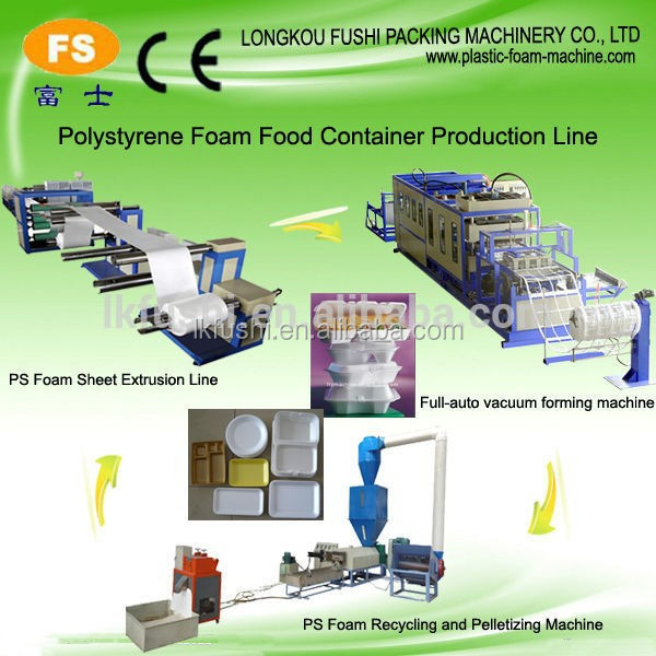 Fully automatic plastic take away food container and hamburger box vacuum forming machine for ps
