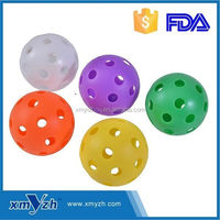 Sport use practicing plastic wiffle ball