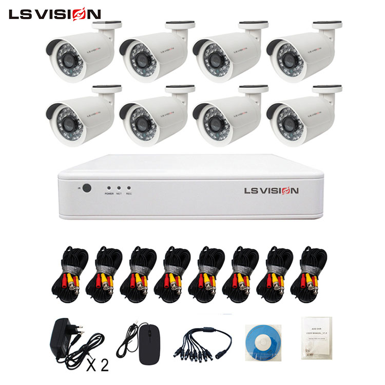 LS VISION 8ch Full 960P AHD DVR Kit 8pcs 960P Outdoor Indoor Home Security Camera System 1TB HDD