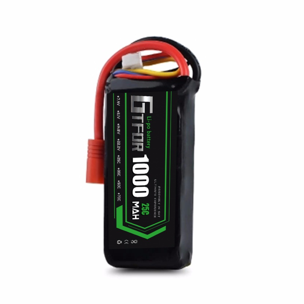 Li-Poly <strong>Battery</strong> 22.2V 1000mAh 25C MAX50C 6S 1/10 for RC Car Multicopter Quadcopter Race Car
