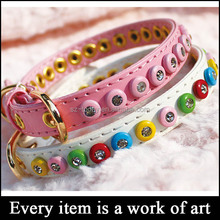 (sz-dog 13) fake diamond studded dog collars,rhinestone dog collars wholesale
