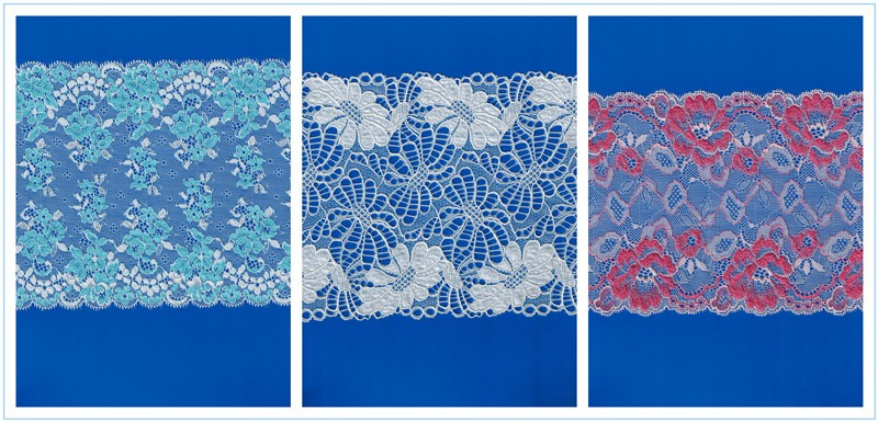 Hongtai factory hot Sale embroidery wide big lace trim, Lace Trimming For Underwear For Lingerie