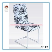 white with flower home goods dining chair for dining room C012