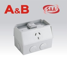 Australia standard fashion IP53 Weatherproof design SAA Waterproof switch socket,/