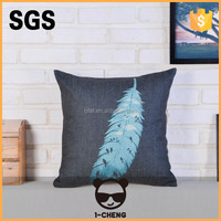 hot sale square little birds cushion cover never fadeless