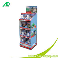 Floor POS Paper Display Stand for Kertas Paper
