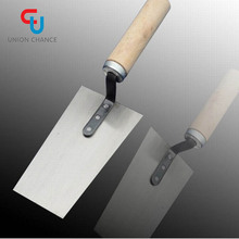 Wood handle concrete plaster trowel for construction hand tools