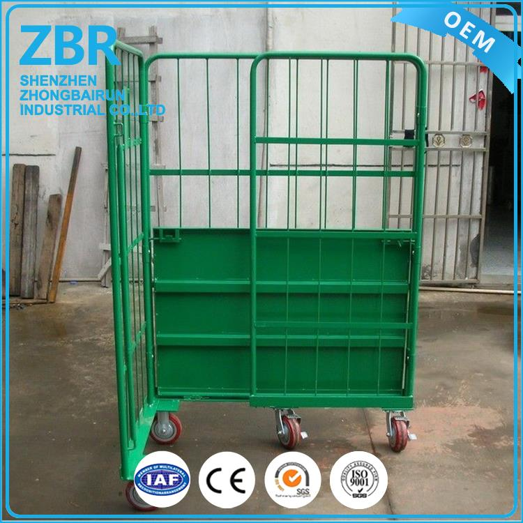 Commercial Laundry Linen Roll Container Cage Trolley