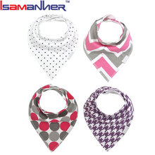 4pcs set custom baby feeding new arrival cotton fancy bandana baby bibs