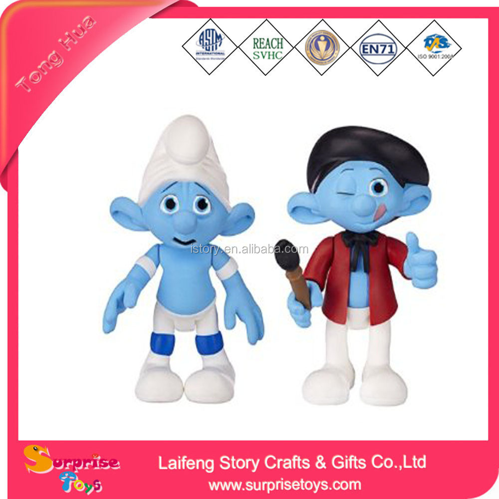 2017 Wholesale manufacturer Collectible Figure Smurf Baby Mini Toys
