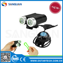 2015 SANGUAN brand-new 2200 Lumen led bike light with remote pressure control
