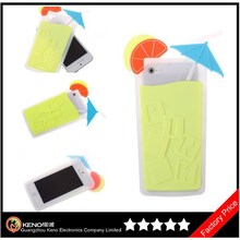 Keno 3D Unique Fruit Drink Soft Silicone Rubber Case Cover for iPhone5 5S