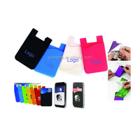 Smart silicone cell phone credit card holder