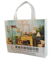 Custom pp non woven material fabric bag with opp film lamination