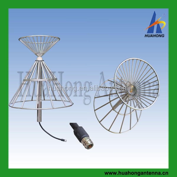 New arrive omnidirectional stainless steel Discone ultra wideband 100-1300mhz base station <strong>antenna</strong>