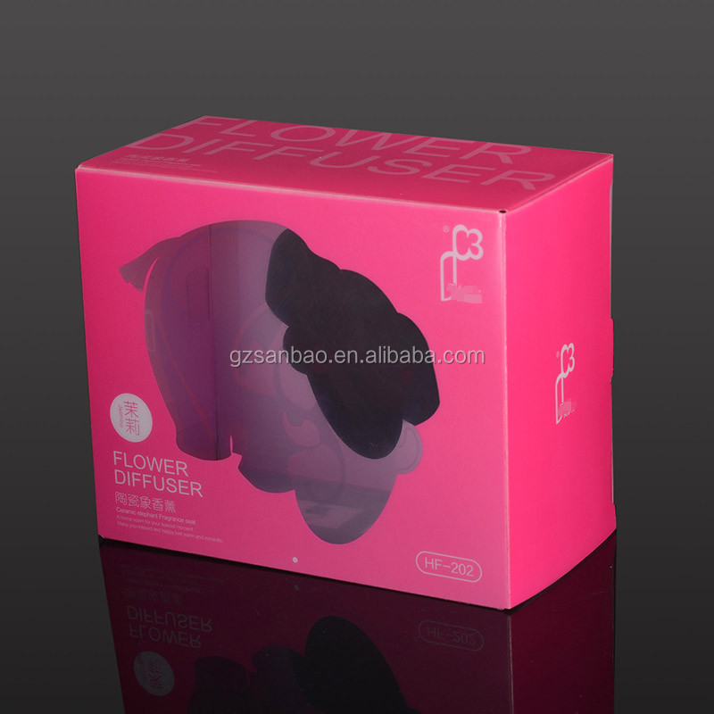 pink plastic clear packaging box for baby toy with logo