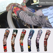 5 PCS new mixed 100%Nylon elastic Fake temporary tattoo sleeve designs body Arm stockings tatoo for cool men women