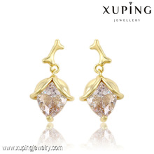 91347 Xuping jewellery shop cash counter design sexy women dangle earring jewelry in 14k gold plated