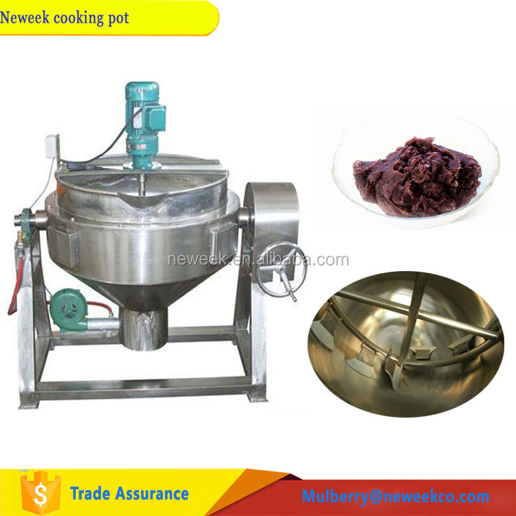 Neweek electric heating 200L bean paste soup cooking jacketed kettle