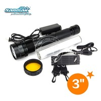 Super bright black 38W flashlight Rechargeable HID Xenon Torch Flash light