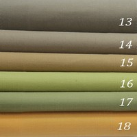High quality American solid linen window curtain fabric for meeting room drapery