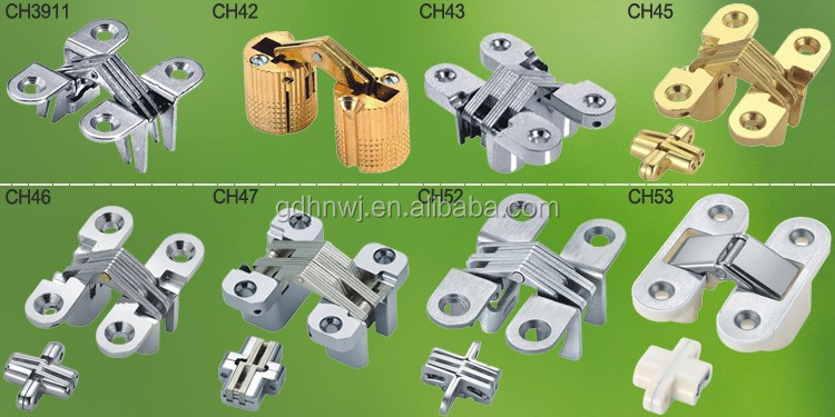 Zinc alloy 180 degree furniture concealed hinge/hidden door hinge/invisible hinge