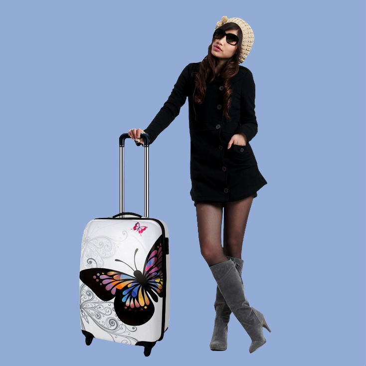 Luggage trolley case with reasonable price and good quality