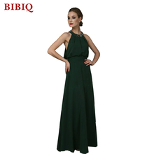 Beaded Halter Neck Wedding Floor Long Dresses With Gold Beading Dark Olive Green Formal Dress Christmas Party Evening Dresses