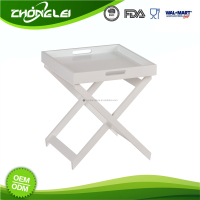 Superior Quality SGS Promotional Price Mdf White Foldable Dinner Tray Table