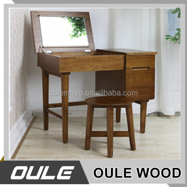 Wooden Vanity Dressing Table Mirror With Drawer For Bedroom Furniture For Makeup Dresser