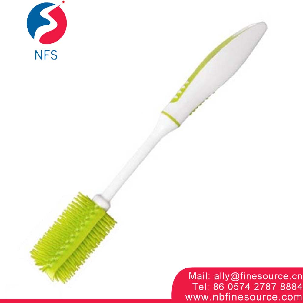 Nano Deep Handheld Kitchen Plastic Long Handle Wash Cup Silicone Cleaning Bottle Brush