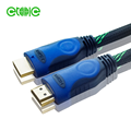 yitaili 2m 19+1 blue double colors nylon braid 4k 1.4/2.0 hdmi cables