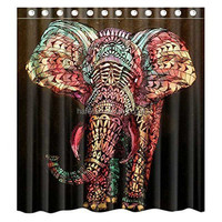 beautiful elephant shower curtain home goods curtains