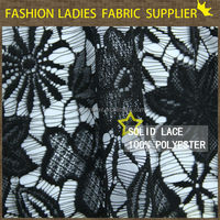 hot sales 100 polyester lace fabric solid for ladies' wear solid fashion wear lace indian suits