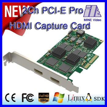 Simultaneously capture 2 HDMI,support the capture of standard 3D images by HDMI 1.4a