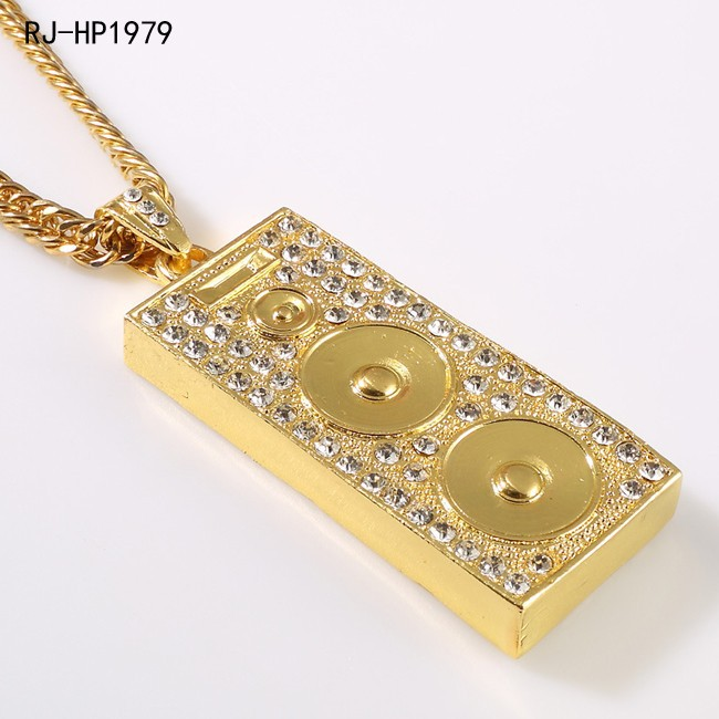 Hot selling fashion design speaker box hip hop pendant jewelry