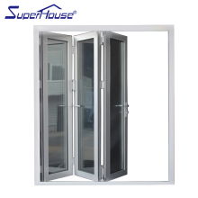 AS2047/CSA Certified China Aluminum Double Glazed Pivot Sliding Accordion Bifold Doors For Sale