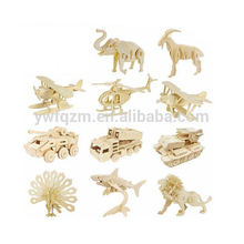 wooden fashion popular animal design 3d puzzles for sale