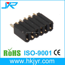 single row straight 6 pin female header cable connector 2.54mm with cap