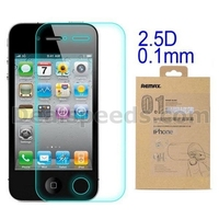 Remax Anti-Crack Series 0.1mm 9H Hardness Arc Edge Nano Coating Tempered Glass Screen Protector for iPhone4S