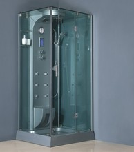 China bathroom designs rain showers very thick tempered glass steam room control system aluminium hinge profiles shower