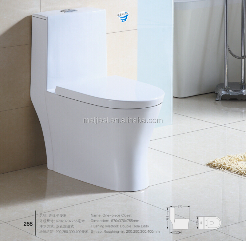 Cheap modern design WC one piece toilet with sink Siphon Ceramic One Piece Toilet ceramic washdown one piece toilet