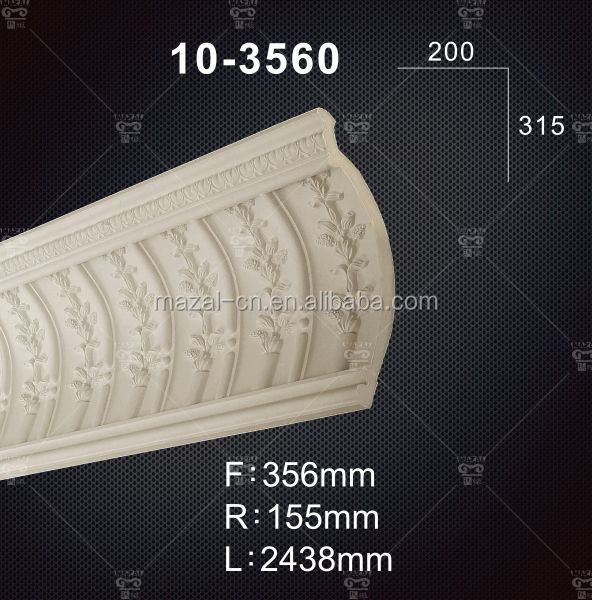 Top Sales Carving Cornice Moulding / PU Wall Corner Moulding
