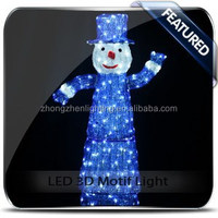 willow display LED snowman motif