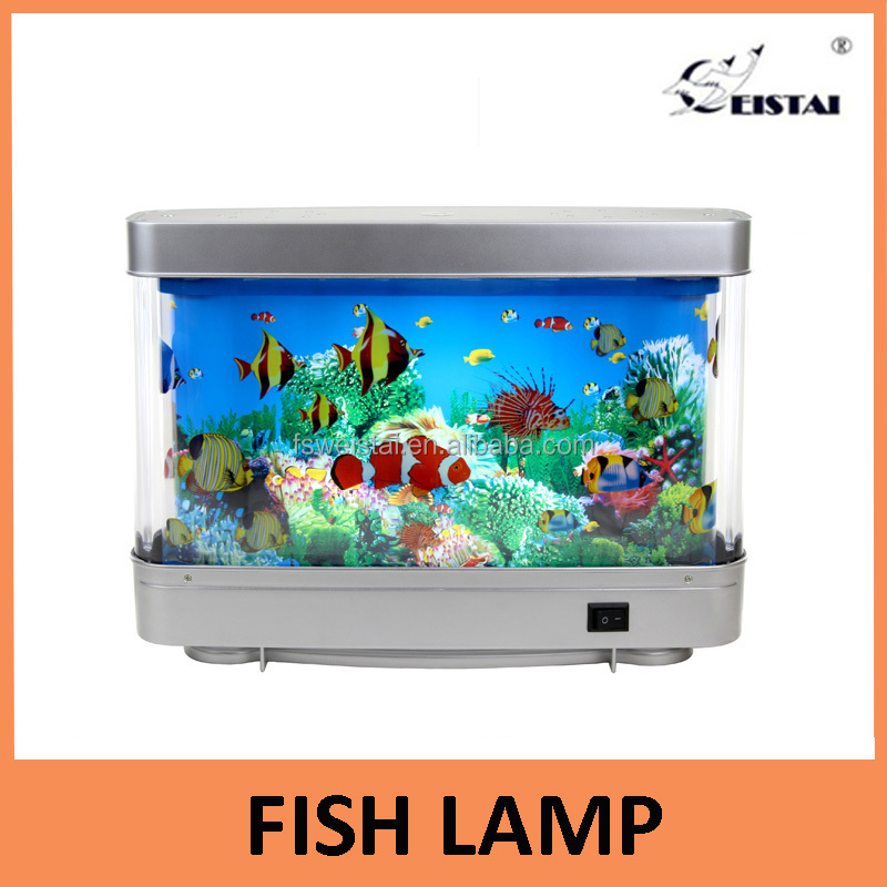 High quality lifelike bubble rotating fish lamp with led light decorative household light children gift