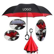 New Products Chinese Supplier reverse Inverted umbrellas with logo prints