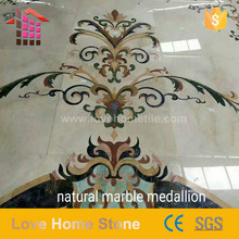 Classic medallion flower waterjet marble tiles design floor patterns