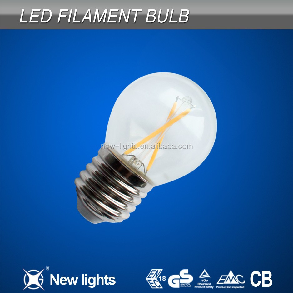 New LED products 2700-6500k 4 watt dimmable filament led e27 bulb manufacture made in china